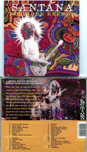 Santana - Fillmore Reunion ( 2 CD ) ( Previously Unreleased STEREO SOUNDBOARD at Fillmore and Shoreline )