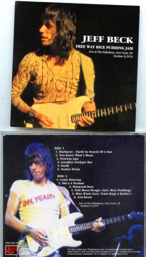 Jeff Beck - Free Way Rice Pudding Jam ( 2 CD SET ) (Live at Palladium , New York , USA , October 8th , 1976 )