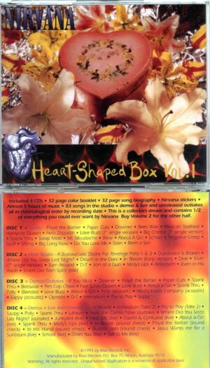 Nirvana - Heart Shaped Box Vol 1 ( 4 CD SET Plus TWO 32 Pages Booklets )