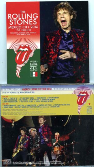 Rolling Stone - Mexico City 2016 First Night ( 2 CD ) ( Foro Sol Mexico City , March 14th , 2016 )