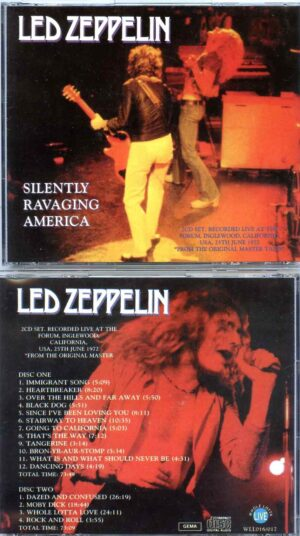 Led Zeppelin - Silently Savaging America ( 2 CD ) ( Live at The Forum , Inglewood , CA , USA , June 25th , 1972  Original Master )
