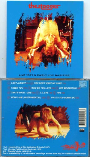Iggy Pop - Live 1971& Early Live Rarities ( The Stooges at Kiel Auditorium 1971 , Cincinnati 1970 & Wampler's Lake 1968 )