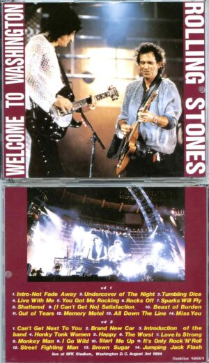 Rolling Stone - Welcome To Washington ( 2 CD ) ( Live at RFK Stadium , Washington , DC , August 3rd , 1994 )