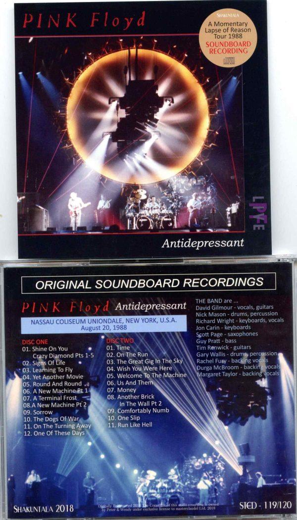 Pink Floyd - Antidepressant ( 2 CD ) ( Shakuntala ) ( Nassau Coliseum Uniondale , New York , USA , August 20th 1988 )