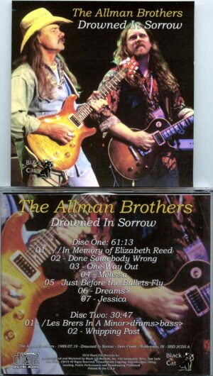 Allman Brothers- Drowned In Sorrow ( 2 CD SET ) ( Soundboard from Deer Creek , Noblesville , IN , USA , July 19th , 1989 )