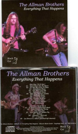 Allman Brothers- Everything That Happens ( 2 CD SET ) ( Blossom Music Center , Cuyahoga Falls , OH , USA , July 12th , 1989 )