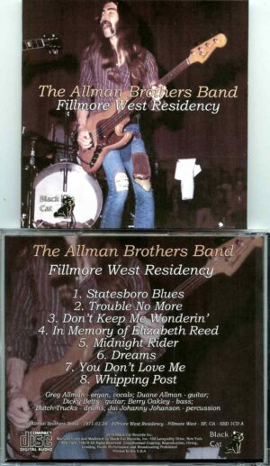 Allman Brothers- Fillmore West Residency ( Soundboard from Fillmore West ; San Francisco , CA , January 28th , 1971 )