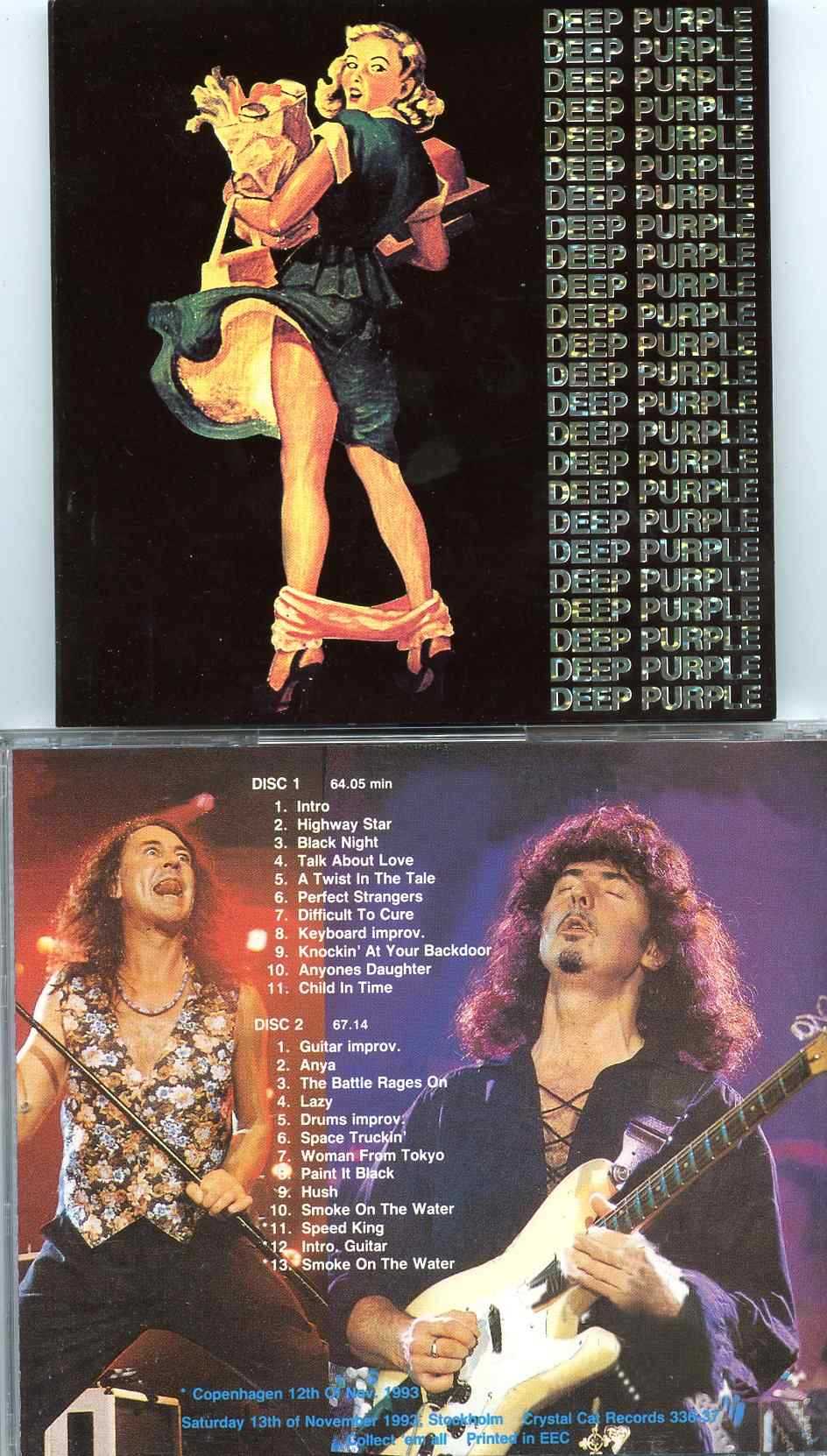 Deep Purple- In Your Trousers ( 2 CD SET ) ( Crystal Cat ) ( Copenhagen and Stockholm , Nov 12th and 13th , 1993 )