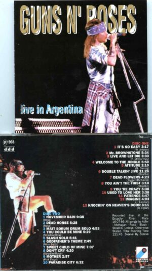 Guns And Roses- Live In Argentina ( 2 CD SET ) ( River Plate Stadium , Buenos Aires , Argentina , July 16th , 1993 )