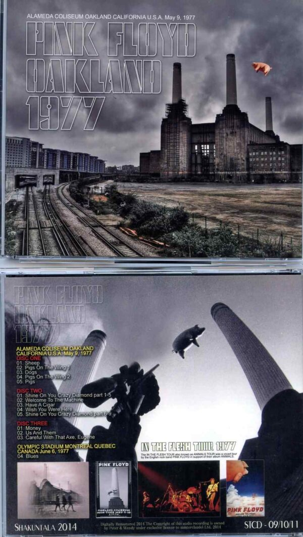 Pink Floyd - Oakland 1977 ( 3 CD SET ) ( Shakuntala ) ( Alameda Coliseum , Oakland , CA , USA , May 9th , 1977 )