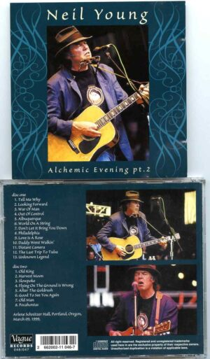 Alchemic Evening Pt. 2 ( Vague ) ( 2 cd set ) ( Arlene Schnitzer Hall , Portland , Oregon , March 9th , 1999 )