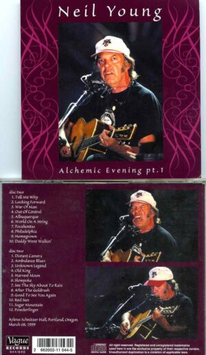 Alchemic Evening Pt. 1 ( Vague ) ( 2 cd set ) ( Arlene Schnitzer Hall , Portland , Oregon , March 8th , 1999 )
