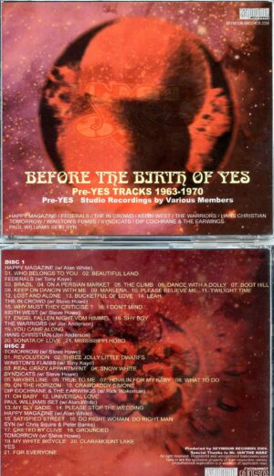 Before The Birth Of Yes ( 2 CD SET ) ( 41 Pre Yes Rare Tracks 1963 - 1970 )