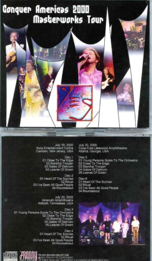 Conquer Americas 2000 ( 6 CD SET ) ( New Jersey, USA July 18th 2000 & Atlanta Georgia USA, July 30th 2000 )