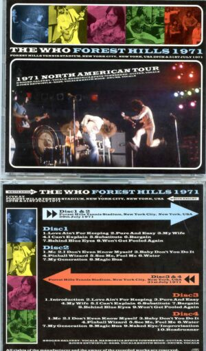 Forest Hills 1971 ( 4 CD SET ) ( Live at Forest Hills Tennis Stadium, NYC, USA, July 29th & 31st, 1971 )
