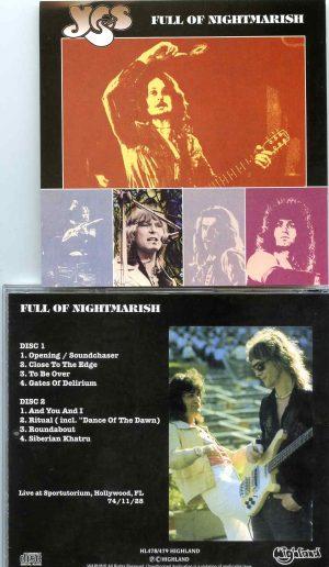 Full Of Nightmarish ( Highland ) ( 2 CD SET ) ( Live at Sportutorium , Hollywood, FL, USA, November 11th, 1974 )