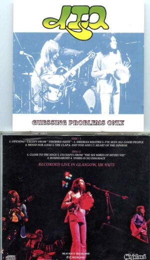Guessing Probems Only  ( Highland ) ( 2 CD SET ) ( Live in Glasgow, UK, September 4th, 1972 )