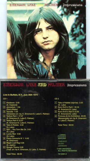 Impressions ( 2 CD SET ) ( Live in Buffalo , NY , USA , July 26th , 1974 )
