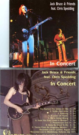 In Concert ( Feat. Chris Spedding ) ( Oh Boy Recs ) ( Live in London, UK, August 1971 )