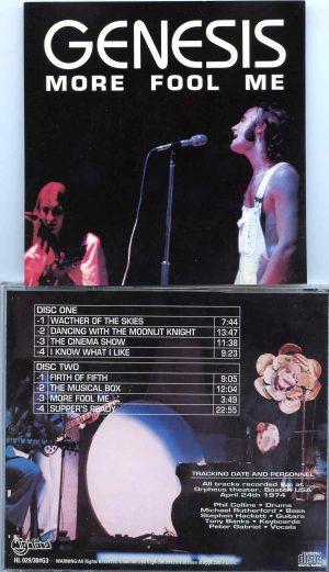 More Fool Me  ( Highland )( 2 cd set ) ( Orpheus Theater , Boston , MA , USA , April 24th , 1974 )