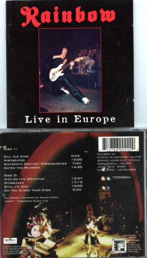 Live In Europe ( 2 CD ) ( Assortment of Tracks performed live along European Tour )