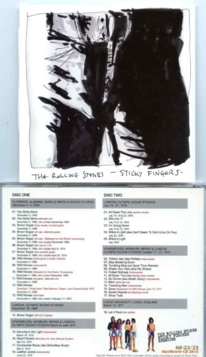 Rolling Stones - Sticky Fingers ( 2 CD set ) ( MAYFLOWER ) ( Studio Recording Sessions 1969 - 1970 )