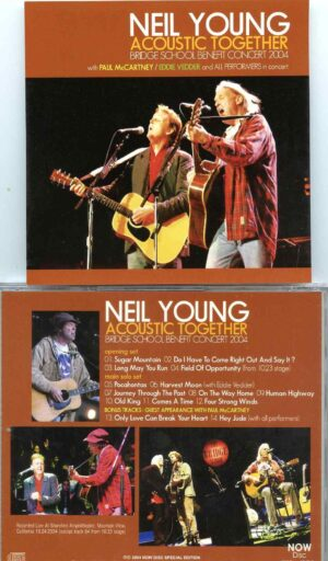 Neil Young - Acoustic Together ( With Paul McCartney , Eddie Vedder at Bridge Benefit Concert 2004 )