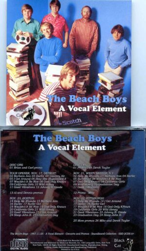 Beach Boys - A Vocal Element ( 2 CD SET ) ( Concerts and Promos Soundboard Collection November 1967 )