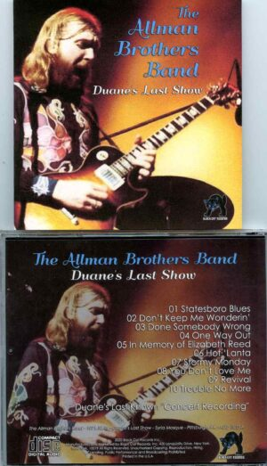 Allman Brothers - Duane´s Last Show ( Syria Mosque, Pittsburg, Pennsylvania, USA, October 15th, 1971 )