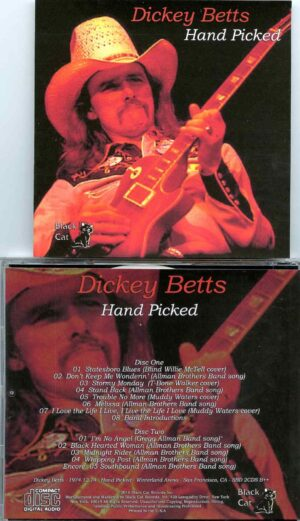 Allman Brothers - Hand Picked ( 2 CD SET ) ( Dickey Betts at Winterland Arena, San Francisco, CA, USA, December 14th, 1974 )