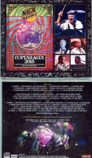 Nick Mason - Copenhagen 2018 ( 2 CD - 1 DVD SET ) ( Forum Black Box, Copenhagen, Denmark, September 3rd, 2018 )
