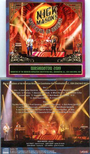 Nick Mason - Washington 2019 ( 2 CD SET ) ( American Revolution Constitution Hall, Washington, DC, USA, April 22nd, 2019 )