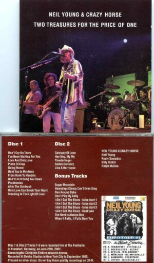Neil Young - Two Treasures For The Price Of One ( 2 CD SET ) ( Frankfurt, Germany, June 20th, 2001 plus Demos )