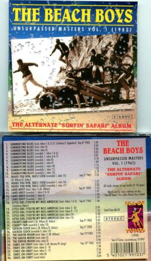 Beach Boys - Unsurpassed Masters vol. 1 ( The Alternate Surfing Safari 1962 )