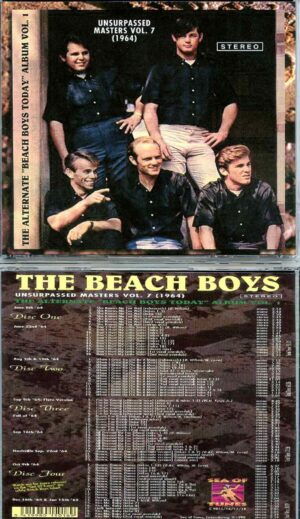 Beach Boys - Unsurpassed Masters vol. 7 ( 4 CD SET ) ( The Alternate Beach Boys Today Album 1964 )