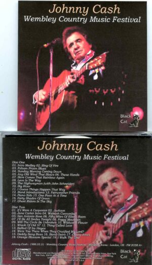 Johnny Cash - Wembley Country Music Festival ( 2 CD SET ) ( Wembley Arena, London, March 31st, 1986 )