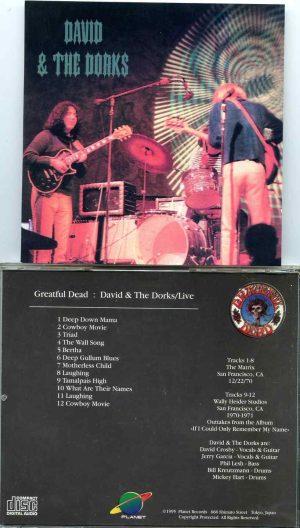 Grateful Dead - David and the Dorks Live  ( 1 CD )( The Matrix Dec 22nd, 1970 andWally Heider Studios 1970 1971 )
